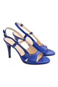 Sandale elegante din piele naturala albastra 5180