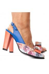 Sandale elegante din piele naturala albastra 5253