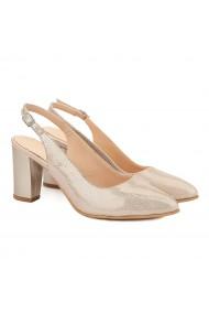 Sandale elegante din piele naturala bej 5031
