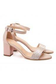 Sandale elegante din piele naturala bej 5066