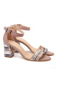 Sandale elegante din piele naturala bej 5083