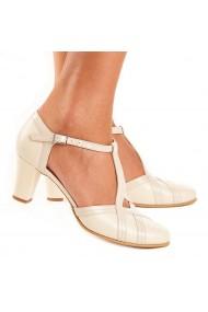 Sandale elegante din piele naturala bej 5107