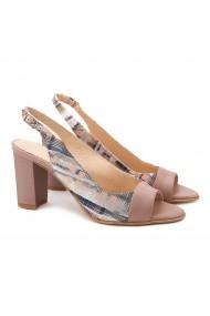 Sandale elegante din piele naturala bej 5109
