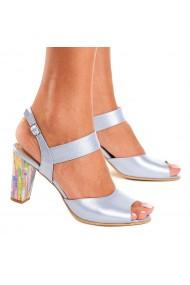 Sandale elegante din piele naturala bleu ciel 5084