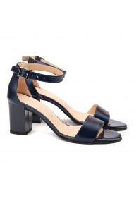 Sandale elegante din piele naturala bleumarin 5085
