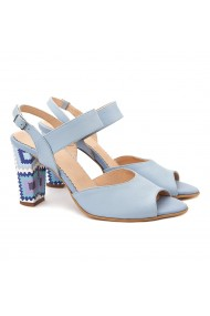Sandale elegante din piele naturala blue 5064