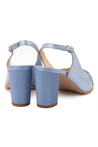 Sandale elegante din piele naturala blue 5067