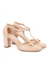 Sandale elegante din piele naturala crem 5057