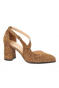 Sandale elegante din piele naturala cu toc gros 5267