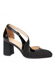 Sandale elegante din piele naturala cu toc gros 5268