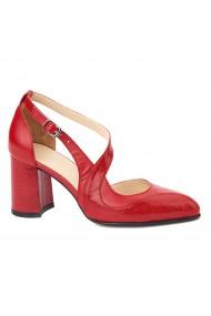 Sandale elegante din piele naturala cu toc gros 5269