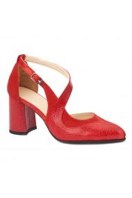 Sandale elegante din piele naturala cu toc gros 5270