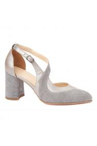 Sandale elegante din piele naturala cu toc gros 5272