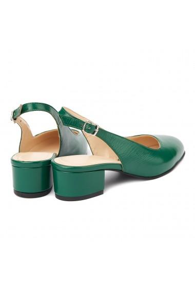 Sandale elegante din piele naturala cu toc mic 5257