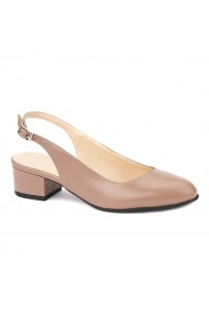 Sandale elegante din piele naturala cu toc mic 5259