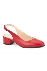 Sandale elegante din piele naturala cu toc mic 5260