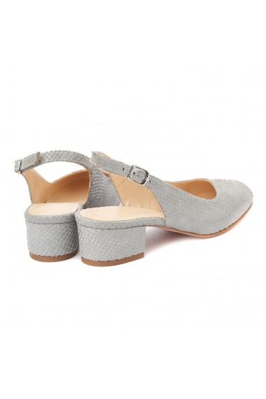 Sandale elegante din piele naturala cu toc mic 5262