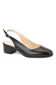 Sandale elegante din piele naturala cu toc mic 5263