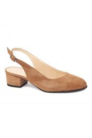 Sandale elegante din piele naturala cu toc mic 5264