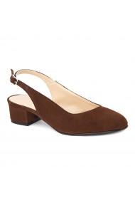 Sandale elegante din piele naturala cu toc mic 5265