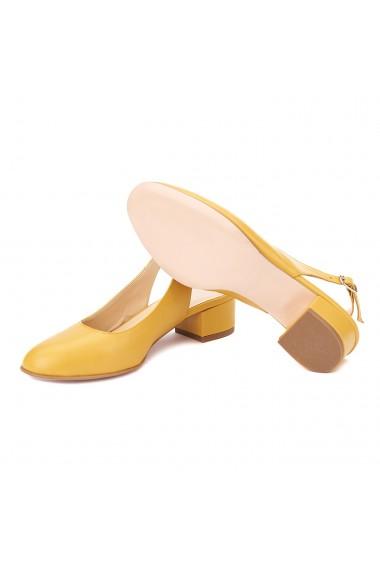 Sandale elegante din piele naturala cu toc mic 5266