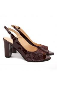 Sandale elegante din piele naturala grena 5113