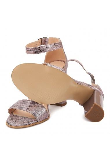 Sandale elegante din piele naturala lila 5102