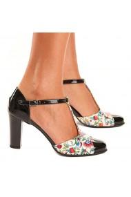 Sandale elegante din piele naturala model floral 5210