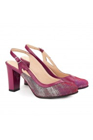 Sandale elegante din piele naturala mov 5021