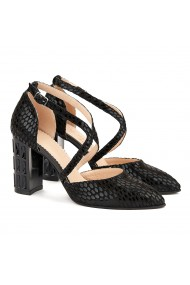 Sandale elegante din piele naturala neagra 5005