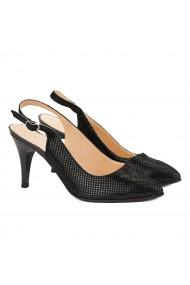 Sandale elegante din piele naturala neagra 5035