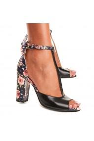 Sandale elegante din piele naturala neagra 5118