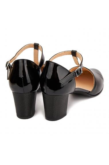 Sandale elegante din piele naturala neagra 5207