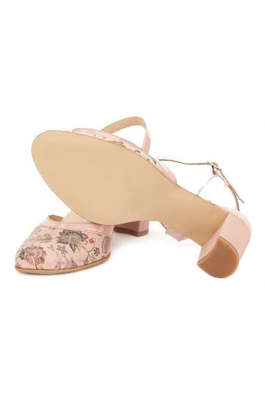 Sandale elegante din piele naturala nude 5029