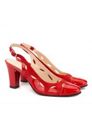 Sandale elegante din piele naturala rosie 5004