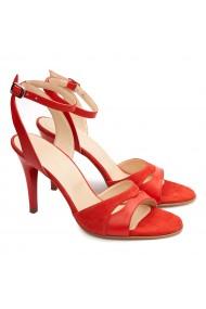 Sandale elegante din piele naturala rosie 5175