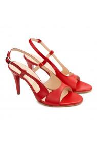 Sandale elegante din piele naturala rosie 5177