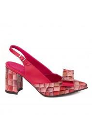 Sandale elegante din piele naturala rosie 5252