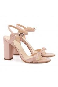 Sandale elegante din piele naturala roz 5149