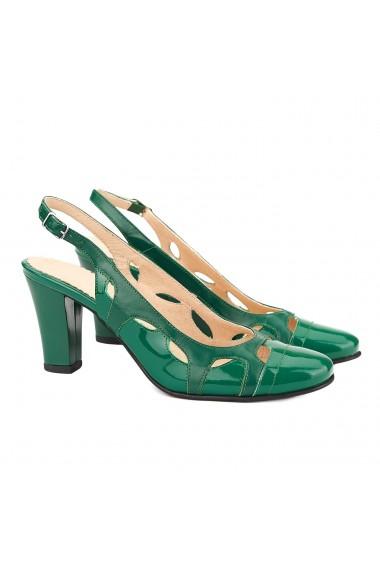 Sandale elegante din piele naturala verde 5007