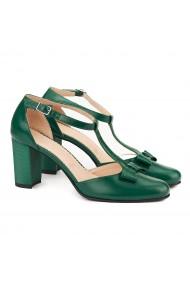 Sandale elegante din piele naturala verde 5061