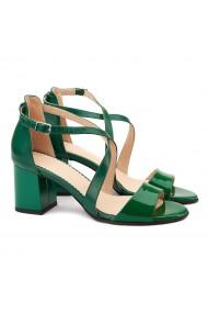 Sandale elegante din piele naturala verde 5068