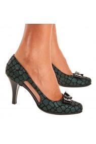 Sandale elegante din piele naturala verde 5208