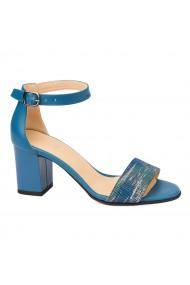 Sandale dama elegante din piele naturala blue 5214