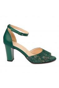 Sandale dama elegante din piele naturala verde 5216