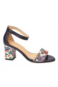 Sandale dama elegante din piele naturala albastra 5217