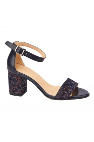 Sandale dama elegante din piele naturala albastra 5218
