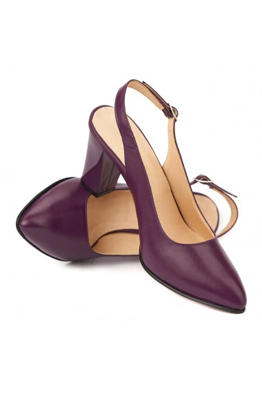 Sandale dama elegante din piele naturala mov 5221