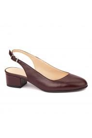 Sandale elegante din piele naturala cu toc mic 5276