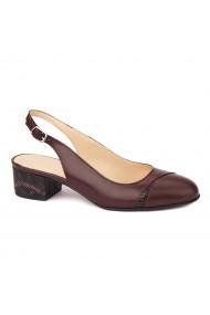 Sandale elegante din piele naturala cu toc mic 5277